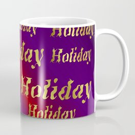 golden holiday text in red and purple metal Coffee Mug