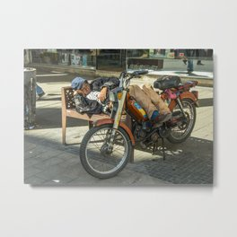 Moped Siesta  Metal Print