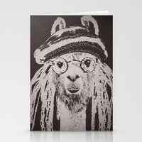 funky Stationery Cards featuring Funky Llama by Paula Belle Flores