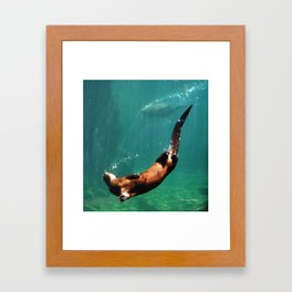 Everybody Otter Have Shiny Bubbles Framed Art Print