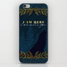 I Am Here (Kingdom of Ash) iPhone Skin