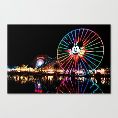 Paradise Pier at Night Canvas Print