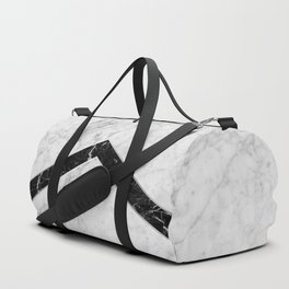 Arrows - White Marble & Black Granite #619 Duffle Bag