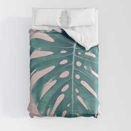 Monstera Delight #3 #tropical #decor #art #society6 Comforters