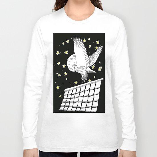 Zentangle Magical Messenger Owl Long Sleeve T-shirt