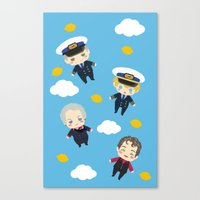 cabin pressure Canvas Prints featuring Cabin Pressure: The Lemon is With You by Le Bear Polar