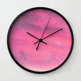 Abstract, Pink, Modern art, Art, Minimal, Wall art Print Wall Clock