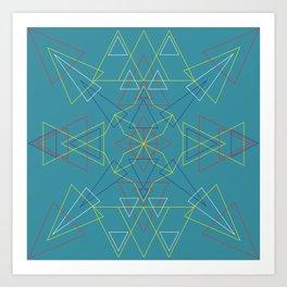 Radial Pattern II Art Print