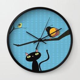 Blue Sky Birdwatching Wall Clock