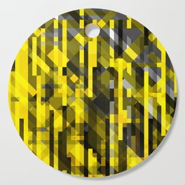 abstract composition in yellow and grays Cutting Board