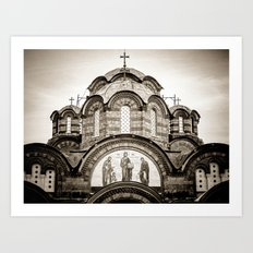 Monastery Katholikon in Greece Art Print