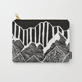 Geode Mountains Black and White Carry-All Pouch