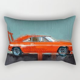The red muscle Rectangular Pillow