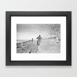 The Race of Gentlemen bw12 Framed Art Print