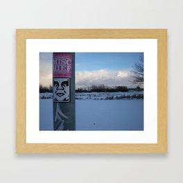 Obey Mischief Framed Art Print