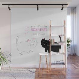 white cat - black cat moonrise kingdom quote Wall Mural