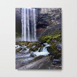 Salty Raven at Tamanawas Falls Mt Hood, Oregon Metal Print