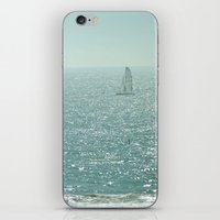 sailing iPhone & iPod Skins featuring Sailing by Catherine Holcombe