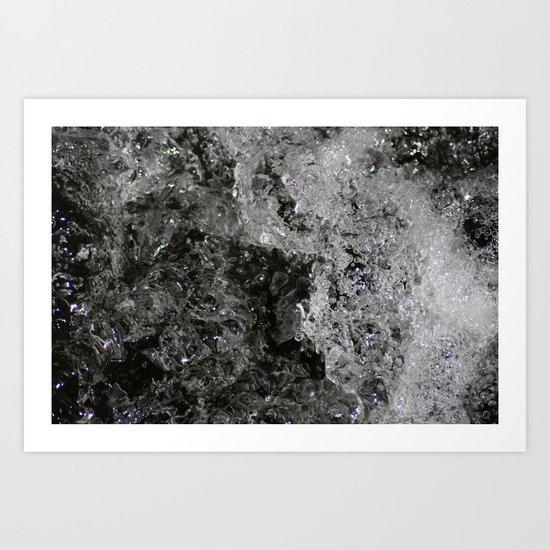River Foam Art Print