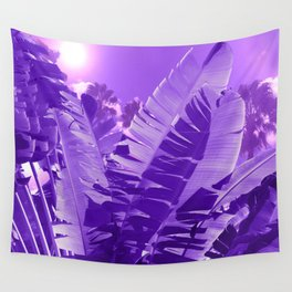 Ultra Violet Tropical Beach Palm Wall Tapestry