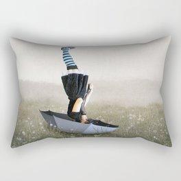 Umbrella melancholy Rectangular Pillow
