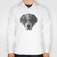 rottweiler Hoodies featuring Ornate Rottweiler by Adrian Dominguez