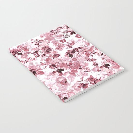 fleuri en rose Notebook