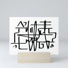 Alien Line Pattern Mini Art Print