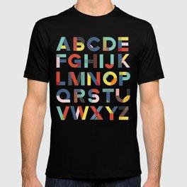 Modern Alphabet Print T-shirt