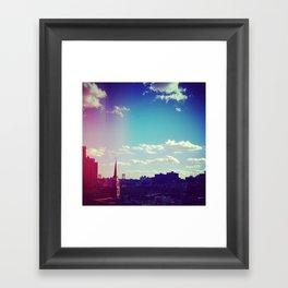 Sky Over Williamsburg Framed Art Print