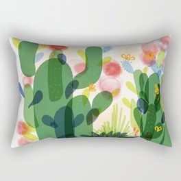 cacti life | Happy modern art | Wall art and  cubicle decor Rectangular Pillow