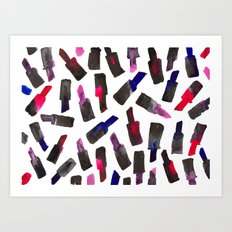 Lipstick Drop Art Print