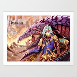 Dragon Summoner Art Print