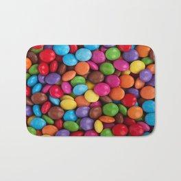 cute rainbow colors chocolate candy Bath Mat