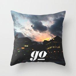 Go // #TravelSeries Throw Pillow