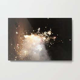 New Years Fireworks Metal Print
