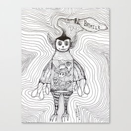 Batmilk Canvas Print