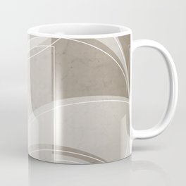 Where the Circles and Semi-Circles Meet in Taupe Coffee Mug