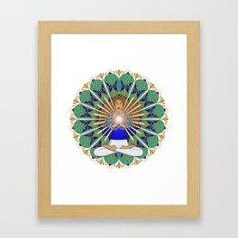 Divine Spark Mandala Framed Art Print