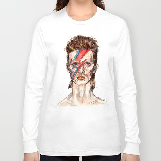 Bowie Inspired David Long Sleeve T-shirt
