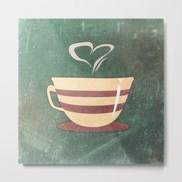 Coffee is love illustration Metal Print