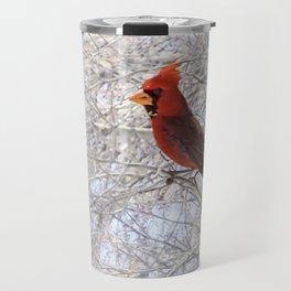 Red Cardinal Along the Salt River Travel Mug