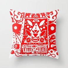 kozmik machine (red) Throw Pillow