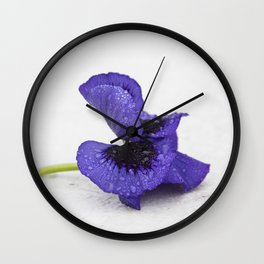 Violet spring dreams Wall Clock