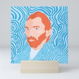 Vincent van Gogh self portrait art Mini Art Print