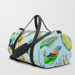 Colourful Birds Chintz Multicolour Duffle Bag
