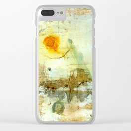 Drifting, Abstract Landscape Art Painting Clear iPhone Case