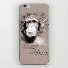 Chimpanzee (BornInNature) iPhone Skin