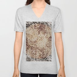 furry texture with circle Unisex V-Neck