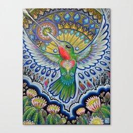 Hummingbird & Cactus - Beija Flor III Canvas Print